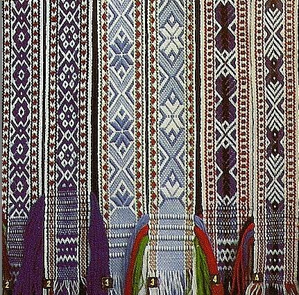 Славянские орнаменты. Пояса.